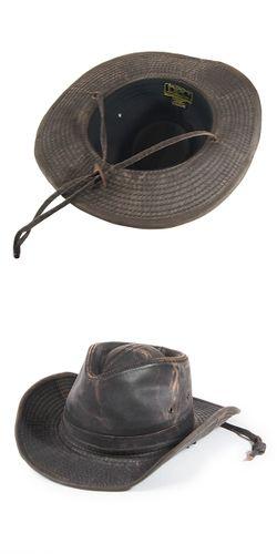 #030006  ドーフマンパシフィック(DORFMAN PACIFIC/DPC)  ドローコード付きウエスタンハット(ワイヤー入り) テンガロンハット カウボーイハット メンズ 帽子 アンティーク調 あご紐 UPF50 UVカット 紫外線対策 キャンプ ブラウン M L XL MC127