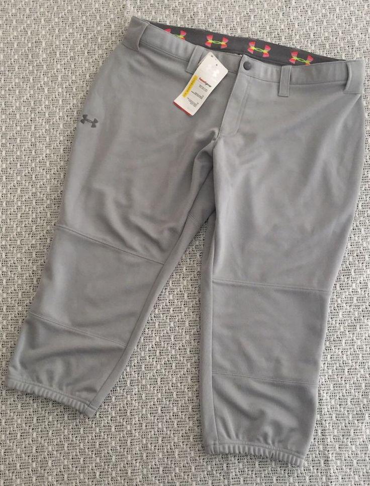 Under Armour Womens Softball Pants Gray Athletic XL NEW W/TAGS  HEAT GEAR  | eBay