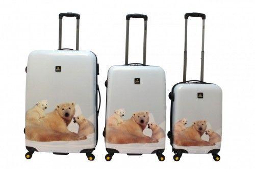 National Geographic Polar Bear SWalizki National Geographic to połączenie innowacyjnego wzornictwa, ultralekkiej i wytrzymałej konstrukcji (poliwęglan ABS) z bardzo praktycznymi detalami istotnie podnoszącymi użyteczność i ergonomię walizki.