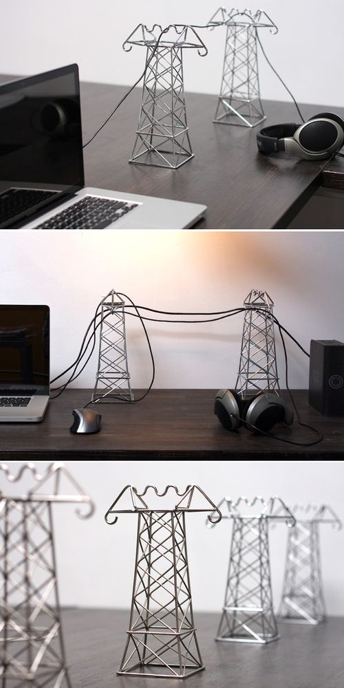 Instead of hiding cords, use them as a decoration.