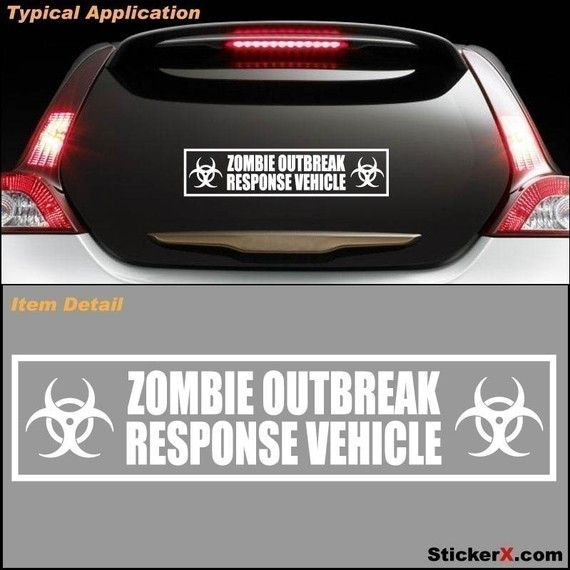 14 best robotics and electronics images on pinterest robotics zombie response vehicle zombieland bumper sticker by stickerx 699 fandeluxe Image collections