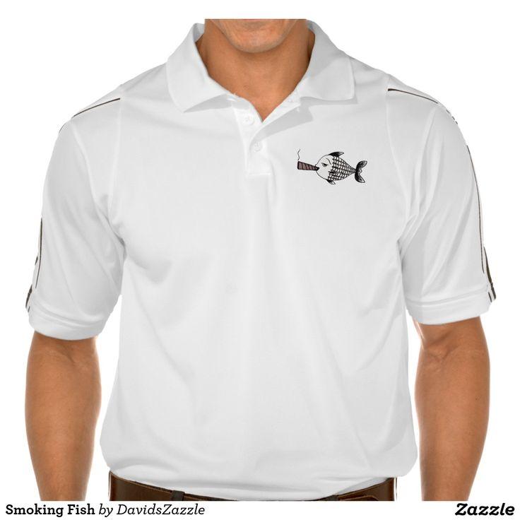 Smoking Fish  #smoking #fish #cigar #tobacco #shirt #clothes #men #women #golf #tee #t-shirt #polo #hoody #sweatshirt #funny #humor #humorous #comical #irony #ironic