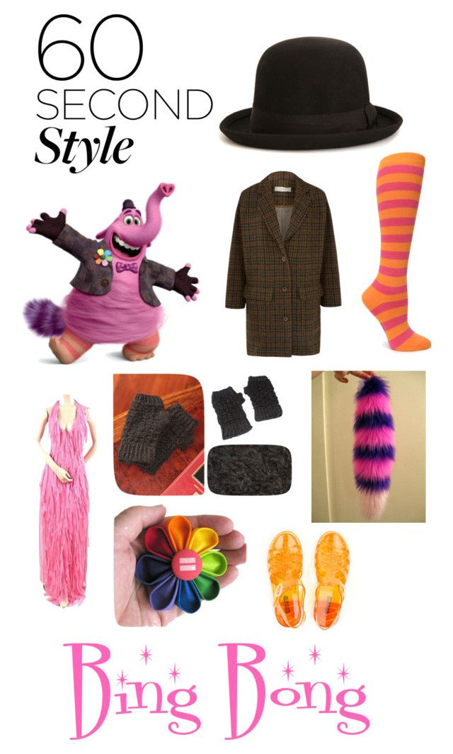 """Bing Bong Quick Halloween Costume"" by albinotanuki ❤ liked on Polyvore featuring Sessùn, NOVICA, Sock It To Me, Halloween, 60secondstyle and disneycharactercostume"
