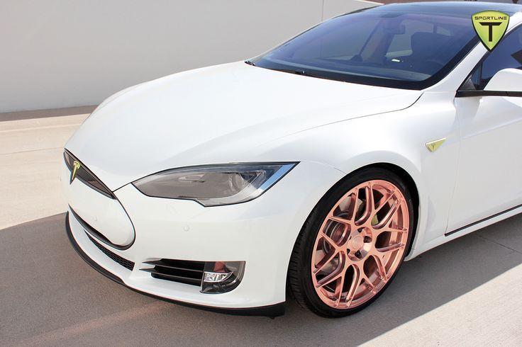 #Tesla Rose #Gold Rims