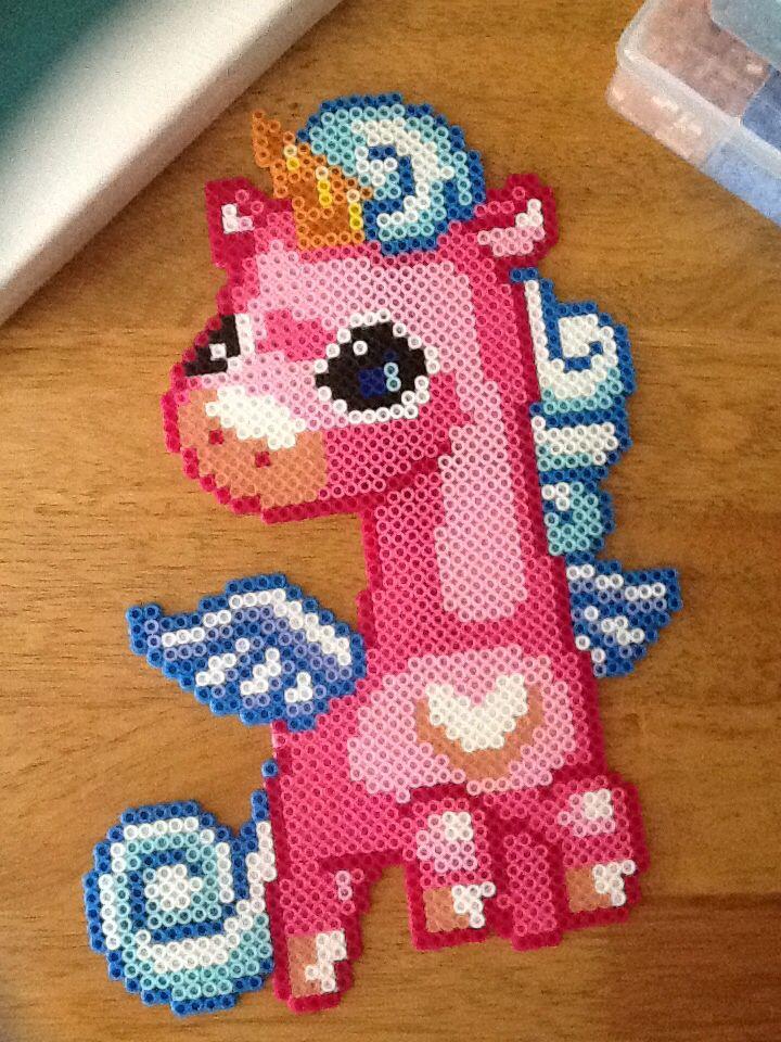 Perler Unicorn Pegasus!!