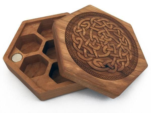 Hex Chest Dice Boxes-Dice Containers-D20 Collective | project ideas cnc router | Pinterest | Cnc ...
