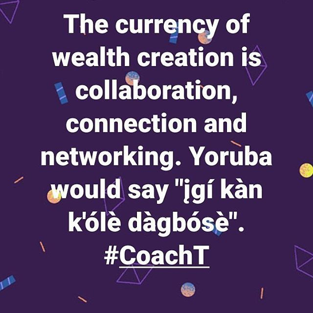 """Let the 🔥 spark. Book a session with #CoachTola...Mr. Immutable. Let's network no matter where you are from. Info in bio. . . Yoruba translation: ""One tree cannot make a forest."" Yoruba is one of the major tribes/languages in Nigeria. . . #coach #CoachTola #coaching #business #coachinglife🔥 #Mr.Immutable #leadership #entrepreneur #entrepreneurs #entrepreneurship #entrepreneurlife #wealth #collaboration #connection #networking #DigitalMarketing #2023Unicorns #goalsetting #MondayMotivation""…"