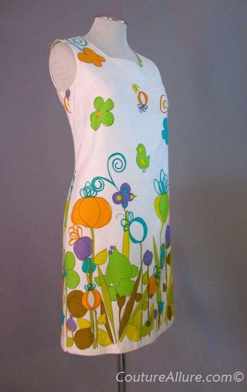 Vintage 60s cotton shift dress -: 1960 S Fashion, 60S Cotton, Couture 1960 S, 1960 S Cotton, Century Vintage Fashion, 1960S Fashion, Dresses, Butterflies Prints, Cotton Shift
