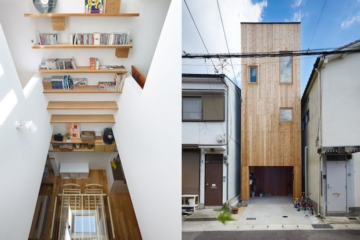 Fujiwarramuro Architects Squeeze Skinny Light-filled Nada House into Tiny Lot in Japan | Inhabitat - Green Design, Innovation, Architecture, Green Building