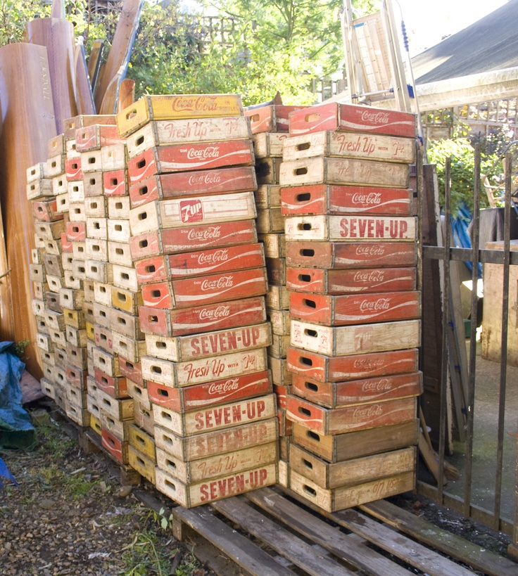 The old cinema vintage wooden soda crates so many ways for Uses for old wooden crates