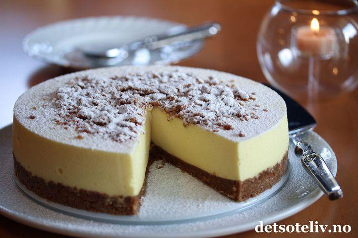 Ostekake med pepperkaker  | Det søte liv