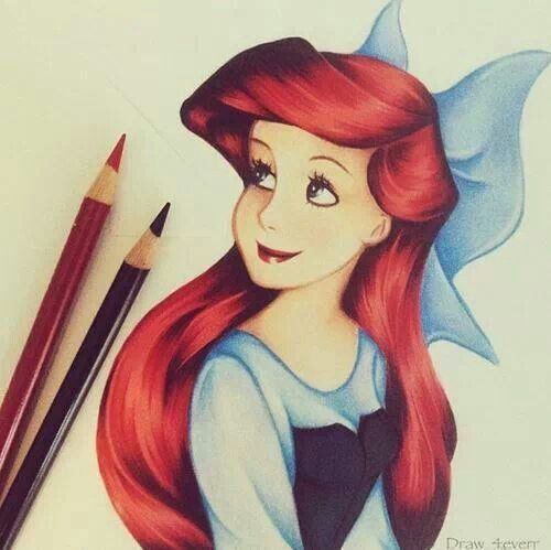 Ariel drawing. Wow, what a good job! | Art | Pinterest ...