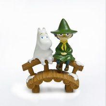 Бегемот Муми мост фигурка декор мини-Сказочный Сад аквариума характер людей статуя смолы Craft игрушка в подарок TNJ049(China)