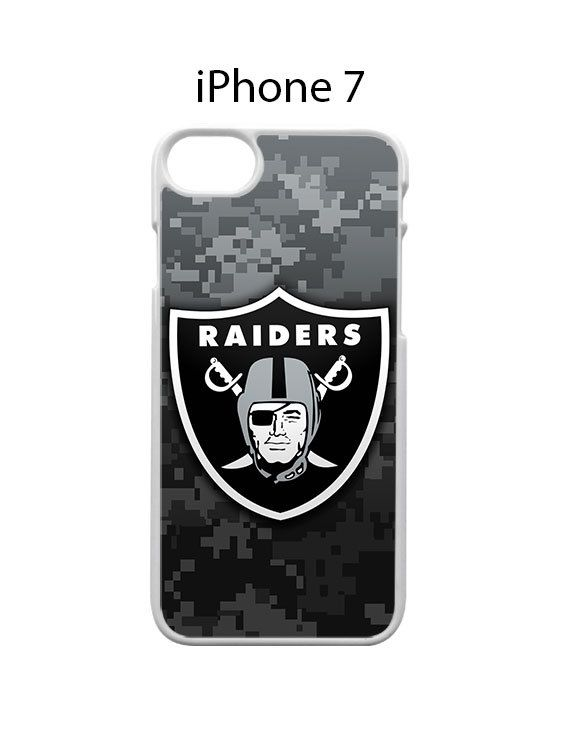 Oakland Raiders on Camo iPhone 7 Case Cover