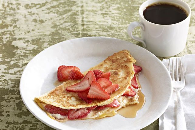 Looking for a brunch dish that'll make 'em ooh and ahh? Try our lovely Tortilla Crepes, stuffed with strawberries and cream cheese and drizzled with syrup.