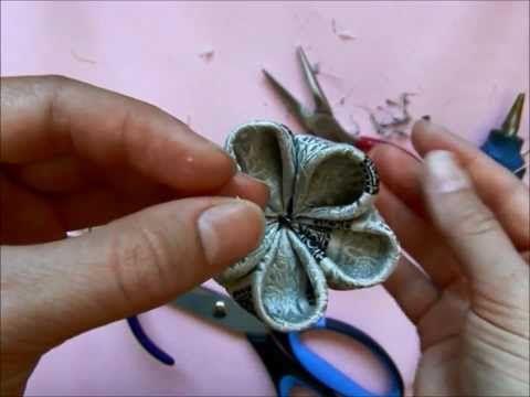 Tutorial: flori de cireș din mătase - kanzashi