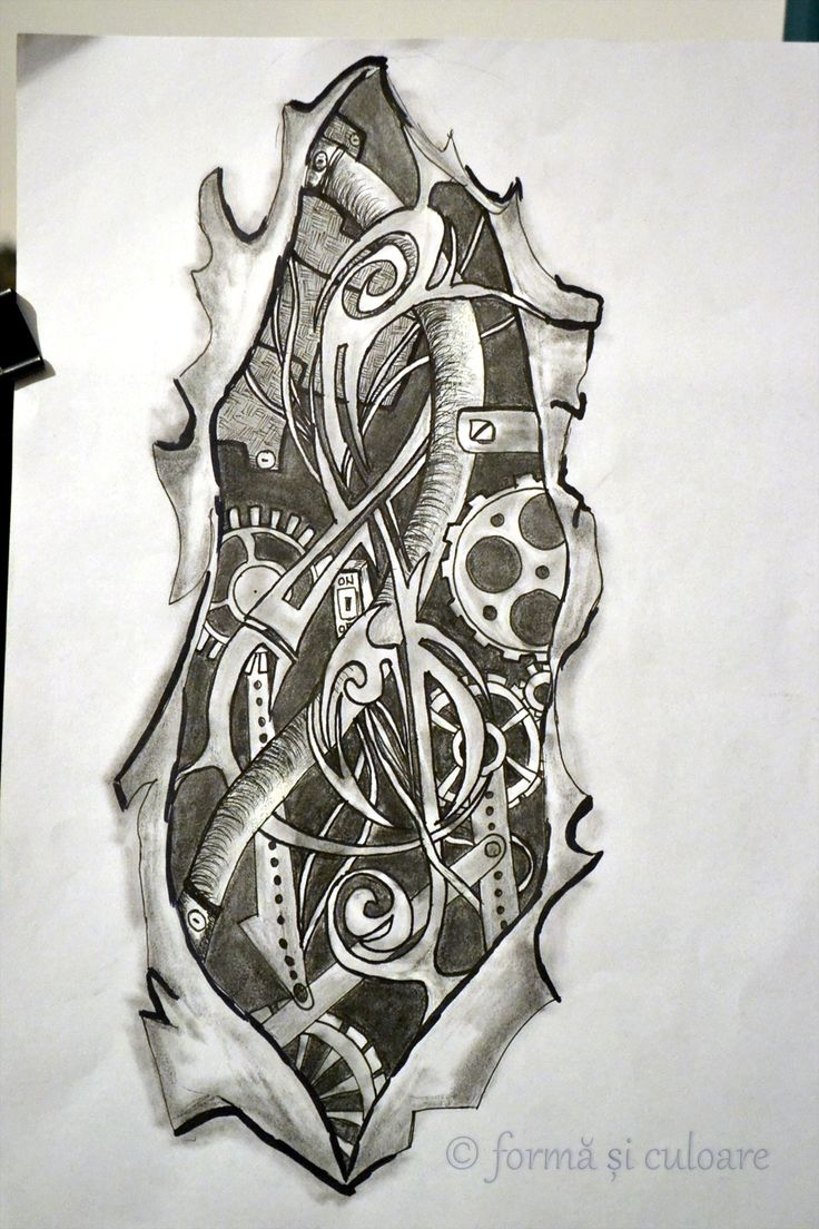 http://formasiculoare.wordpress.com/2014/08/31/the-clef-2/ Another sketch of the shoulder tattoo. More steampunk inside making the things to work!