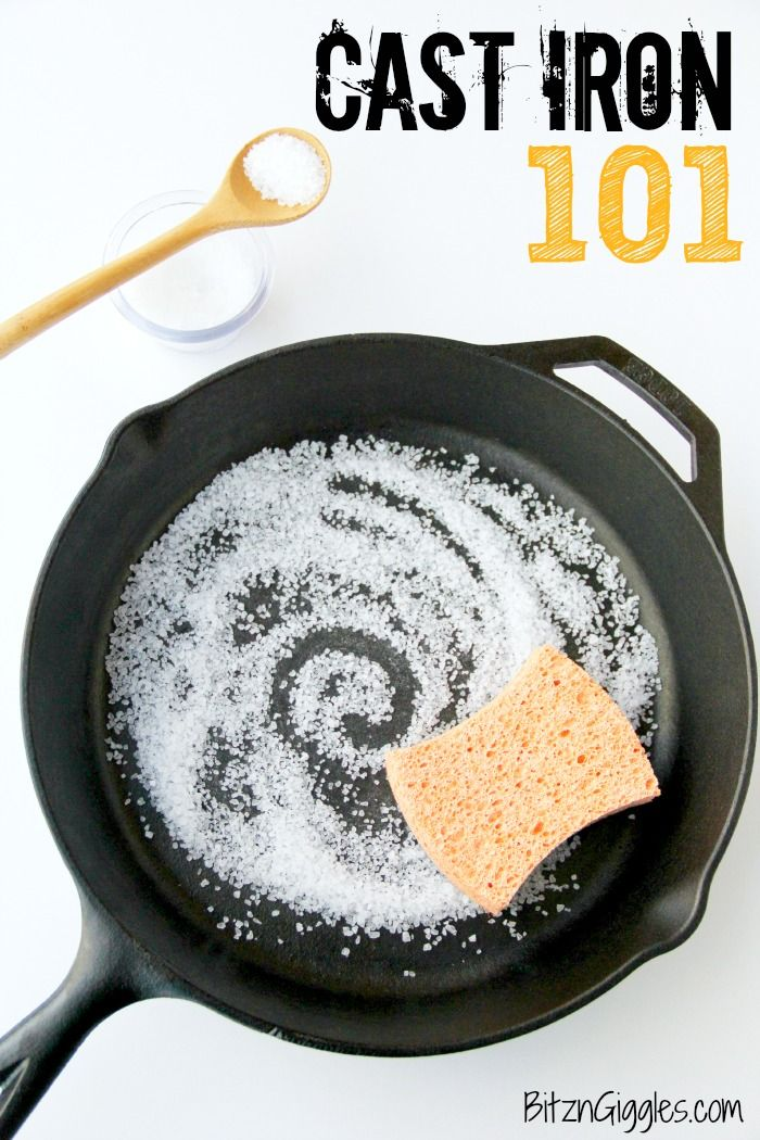 Cast Iron 101 - How to season and care for your cast iron skillet! | via @BitznGiggles
