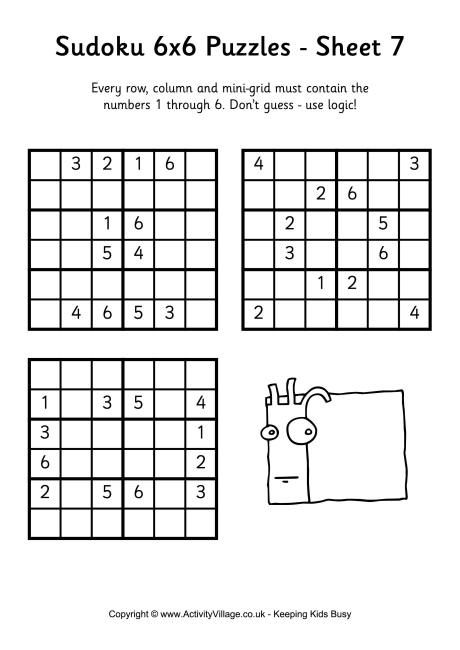 Sudoku 6x6 puzzle 7