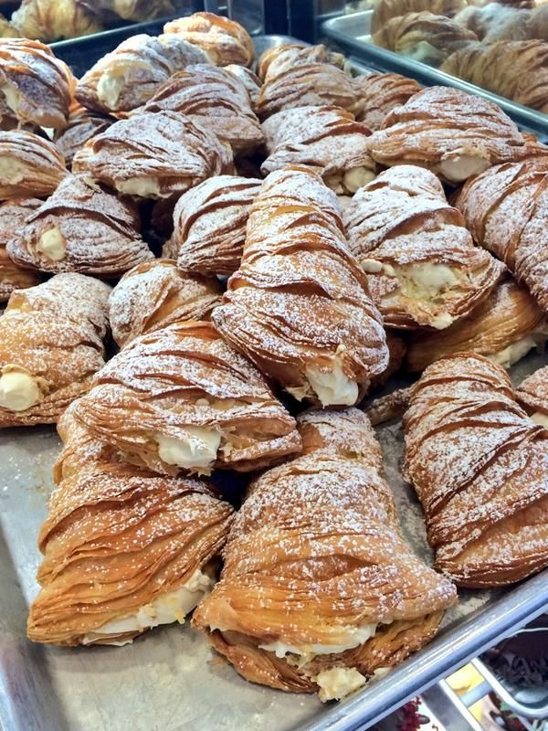 Sweet dreams come true - a full tray of lobster tails! #carlosbakery