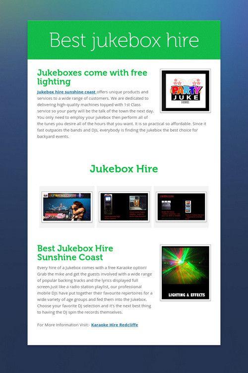 Best jukebox hire