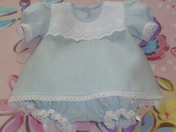 Baby Linen Dress and Panty Cover. $53.00, via Etsy.