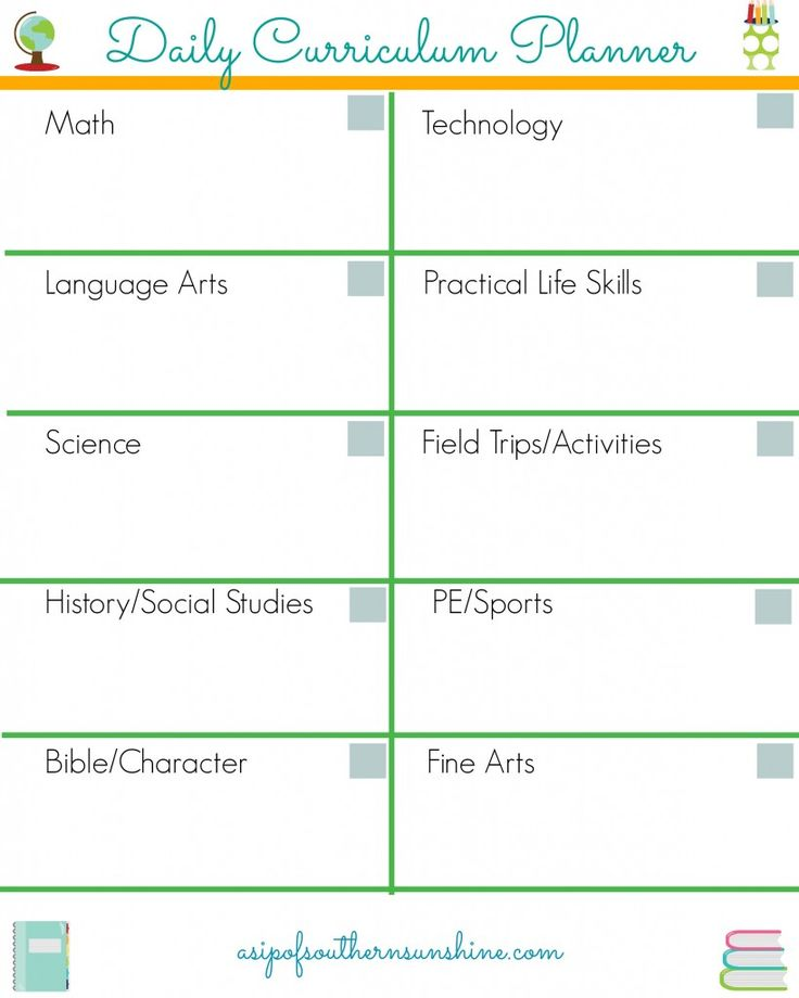 Free Homeschool Daily Planner-How We Use It