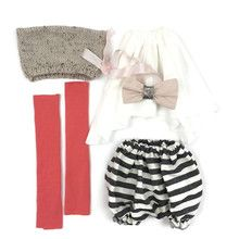 Lola With Love - Doll Outfit (For 75cm Doll) - Monochrome and Watermelon