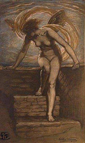 Elihu Vedder - Dawn  1898:
