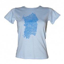 T-shirt Island Print Donna celeste