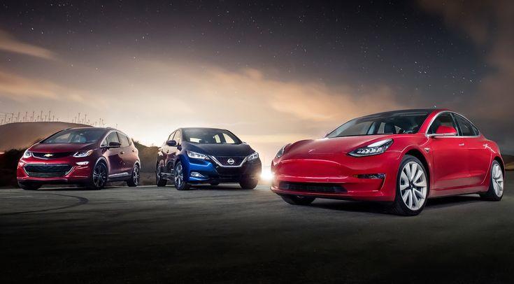 The Automobile 2.0: Chevrolet Bolt EV Premier vs Nissan Leaf SL vs Tesla Model 3 Long Rangehttp://www.motortrend.com/cars/tesla/model-3/2017/the-automobile-2-0-chevrolet-bolt-ev-premier-vs-nissan-leaf-sl-vs-tesla-model-3-long-range/