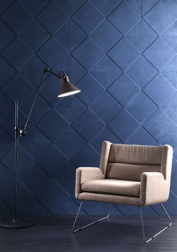 Leather wallcovering / textured / 3D effect / residential Cuir au Carré
