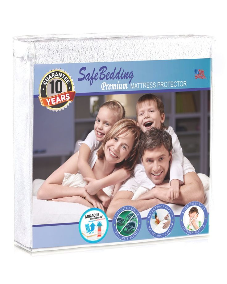 Queen Mattress Protector Waterproof, Hypoallergenic Topper Protector Cover, Dustmite Protect Pad - Premium Cotton Terry Topper Cover, Vinyl Free Mattress Pad Cover 10 years Warranty by SafeBedding