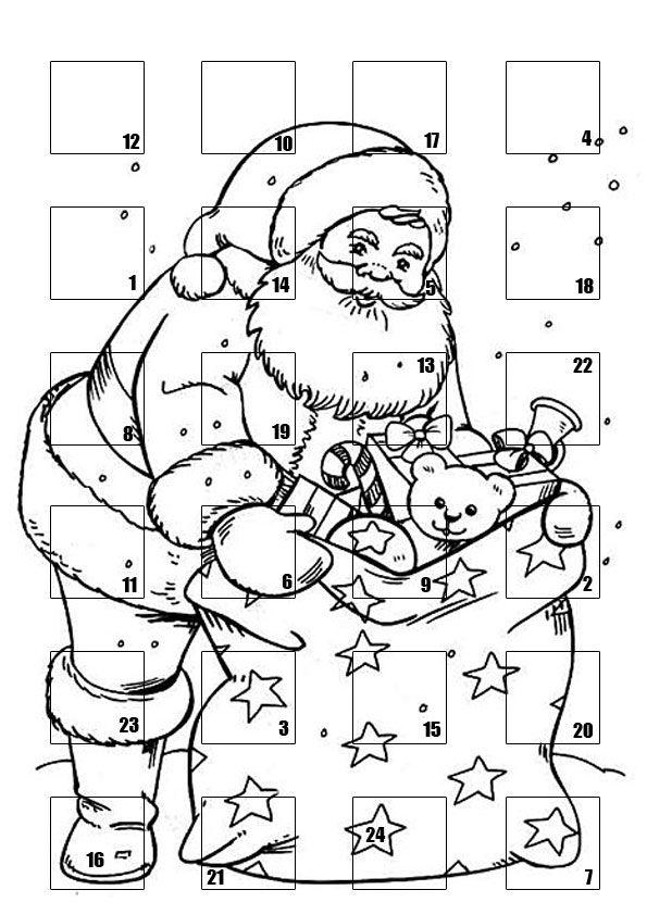 Coloriage Le Calendrier de Noël à colorier - Dessin à ...