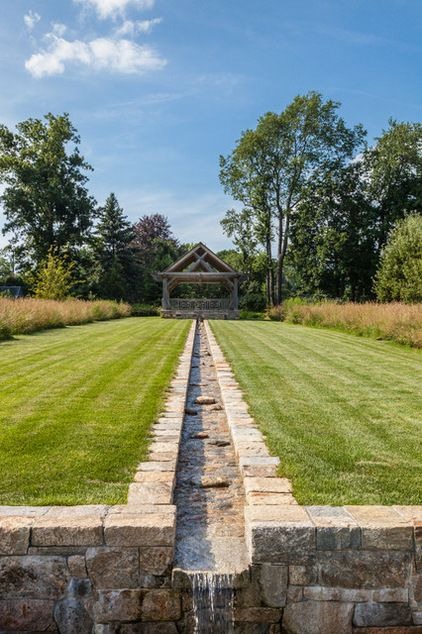 Runnels — the technical term for narrow channels used to move water from one place to another — were once used for irrigation purposes and as rudimentary drainage systems, but they make intriguing landscape elements on their own. Click on pin for Pinterest tips for the housing industry.