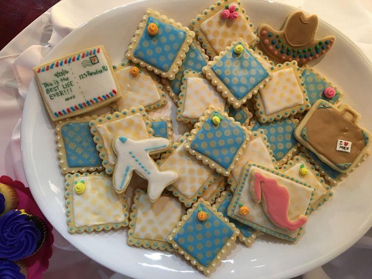 Iced Sugar Cookies Travel Theme Farewell Party Farewell