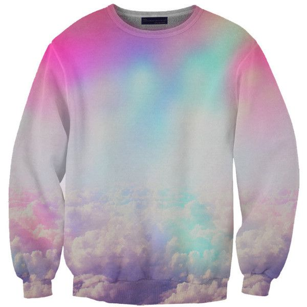 NEON CLOUDS SWEATSHIRT ($75) ❤ liked on Polyvore