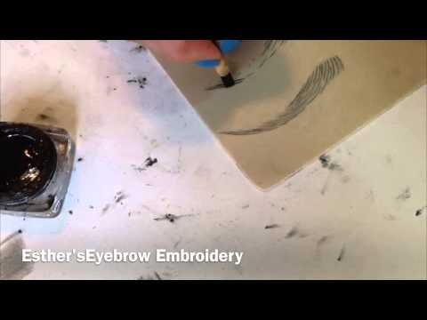 Esther's Brow Embroidery - YouTube