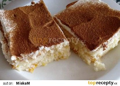 Mandarinkový koláč s tvarohovým krémem recept - TopRecepty.cz