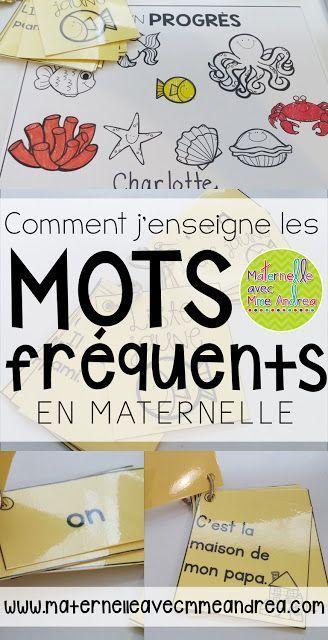 Comment j'enseigne les mots fréquents en maternelle   mots d'haute fréquence   French sight words