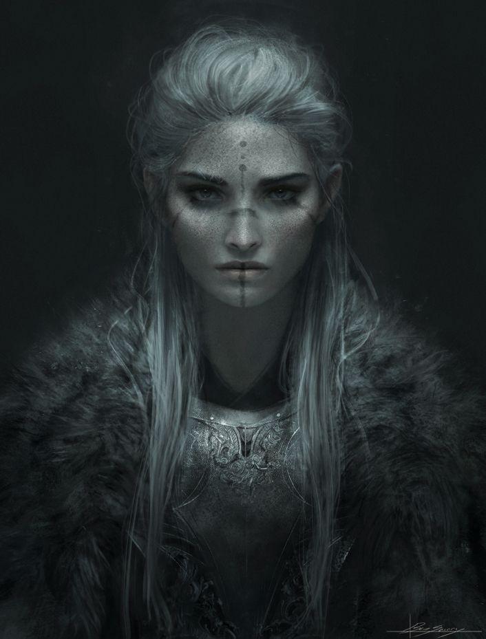 Barbarian female or shaman