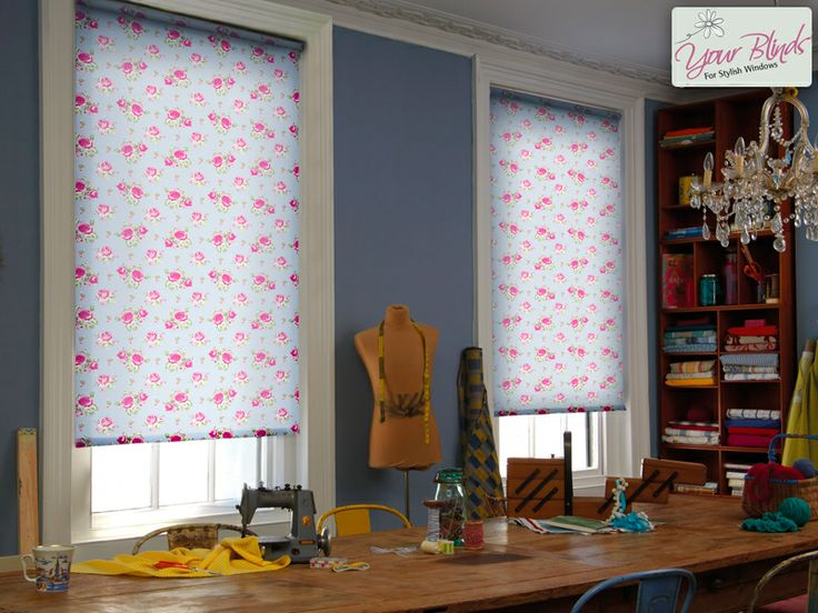 Liven up a plain room with beautifully patterned roller blinds  www.your-blinds.co.uk