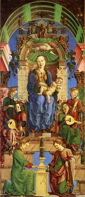 cosme tura, virgin and child enthroned, 1470s, national gallery, london