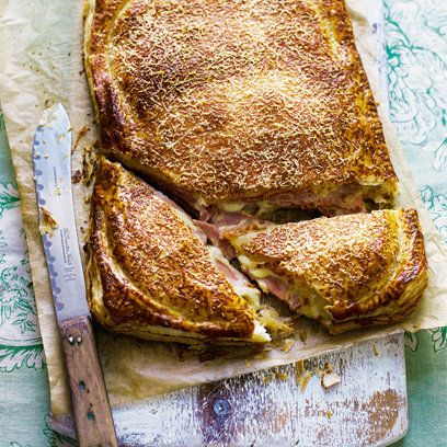 Giant gruyere and ham sandwich recipe from 'The Higgidy Cookbook'