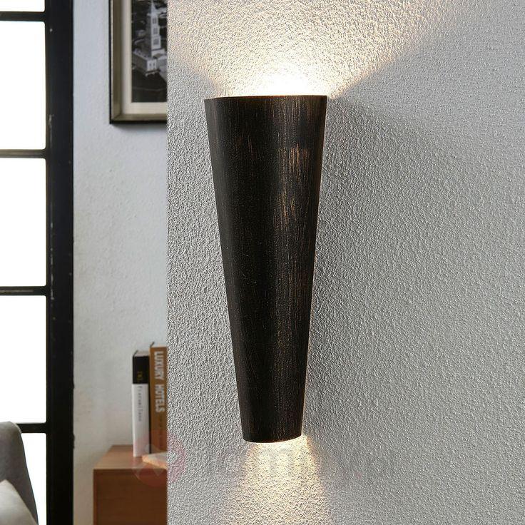 Czarno-złota lampa ścienna Conan, pośr. ośw. 9620935