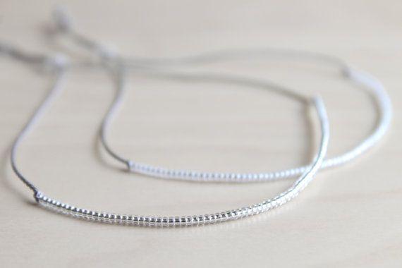 ONE Dainty silk thread bracelet / dainty by HandsLoveJewelry