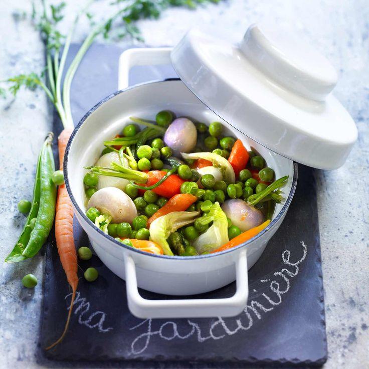 Voir la recette de la jardinière de petits légumes de printemps