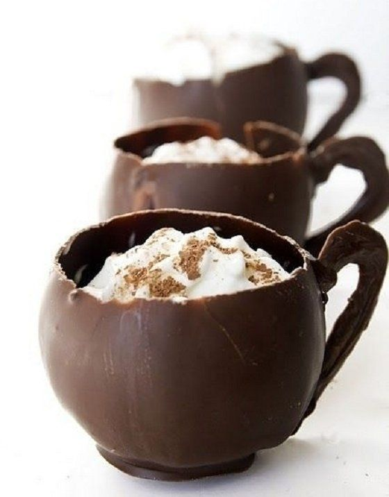 Cappuccino Mousse Chocolate Tea Cups