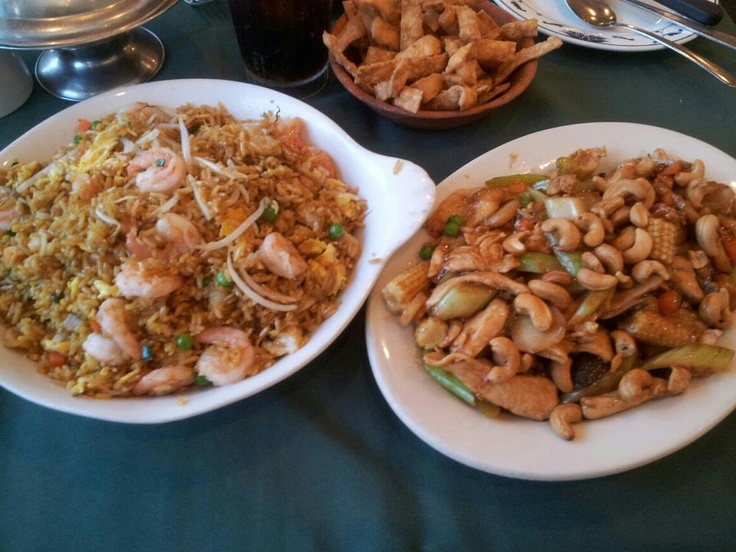SHRIMP FRIED RICE AND CASHEW CHICKEN