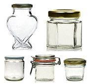 Lahve, sklenice, malé, velké